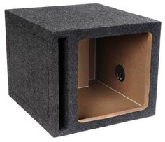 "Brand New Atrend E12svk Single 12-Inch Vented Square Solo Baric L7 or L5 Car Subwoofer Enclosure with Heavy Duty 3/4-Inch High Density Mdf by ATREND. $69.95. Brand New Atrend E12svk Single 12"" Vented Square Solo Baric L7 Or L5 Car Subwoofer Enclosure With Heavy Duty 3/4"" High Density Mdf Features:  Single 12"" vented subwoofer enclosure Dimensions in inches: 16"" Width x 14"" Height x 17.75"" Top depth x 17.75"" Bottom Depth Volume per sub: Factory Matched To Work With 12..."
