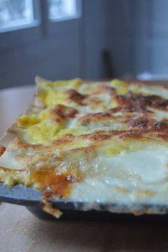 Les lasagnes aux oignons et au tofu, la recette qui sent bon l'automne et les petits champignons!