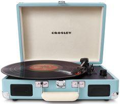Amazon.com: Crosley CR8005A-TU Cruiser Portable Turntable (Turquoise): Electronics
