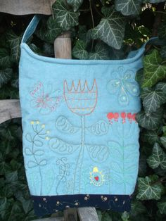 Fairytale garden bag by kiseri on Etsy Garden Bags, Diaper Bag, Gym Bag, Fairy Tales, Trending Outfits, Unique Jewelry, Handmade Gifts, Etsy, Vintage