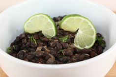Seasoned black beans. These are SO delicious! And the fact that they're easy makes them even better.