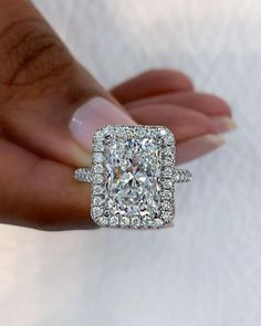 49 Utterly Gorgeous Engagement Ring Ideas ❤ engagement ring ideas pave band ring ideas2 #weddingforward #wedding #bride