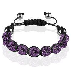 Shamballa Armband Glücksbringer Kristall einfarbig