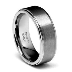 8mm Rounded Edge Men's Tungsten Wedding Band