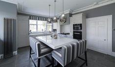 Quartz   Henderstone Open Plan Kitchen Dining Living, Living Room Kitchen, Kitchen Worktops, Quartz, Home Decor, Homemade Home Decor, Kitchen Diner Lounge, Interior Design, Home Interiors