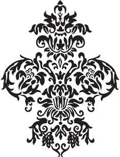 Large Damask  Vinyl Wall Decal Art Baroque by urbanexpressions, $30.00