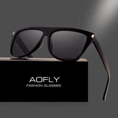 a4e06714e9731 AOFLY BRAND DESIGN Women Sunglasses Polarized Sun Glasses For Women Men  Vintage Square Frame Goggles Oculos