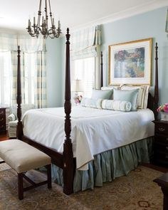 Vintage Home dreamy-southern-bedrooms - Let these soothing Southern bedrooms inspire you to create a restful, relaxing retreat. Get our best ideas for soft, serene bedroom colors and more. Serene Bedroom, Master Bedroom Design, Bedroom Colors, Beautiful Bedrooms, Home Decor Bedroom, Bedroom Designs, Bedroom Ideas, Decor Room, Pretty Bedroom