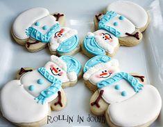 Snowman Cookies Snowmen Christmas Cookies Holiday von rollinindough