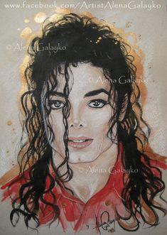 Michael Jackson by AlenaGalayko Michael Jackson Dance, Michael Jackson Drawings, Invincible Michael Jackson, Silvester Stallone, Michael Art, Jackson's Art, Painting People, Painting Art, The Jacksons