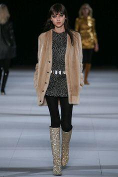 Saint Laurent Fall 2014 Ready-to-Wear Collection Slideshow on Style.com  Les boots à paillette --- dream !!!