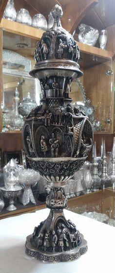 Impressive Persian Silver Vase - Unique and Collectible