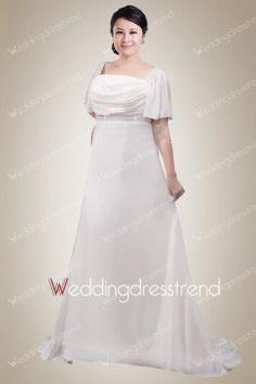 Lovely Empire Waistline Beaded Plus Size Wedding Dress