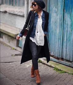 Manteau et veste en jean