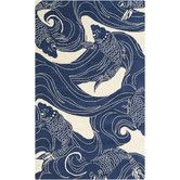 Buy the Surya Blue Direct. Shop for the Surya Blue Rain x Rectangle Polypropylene Hand Hooked Contemporary Outdoor Area Rug and save. Coastal Area Rugs, Art Chinois, Carpe Koi, Plakat Design, Design Floral, Art Japonais, Fish Design, Pond Design, Design Design