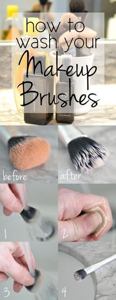 deep clean your makeup brushes… You will need: • A shallow bow • Gentle clarifying shampoo or baby shampoo • Your sink • A lint free cloth  Begin by running your brushes under lukewarm water, rinsing out all of the residual makeup. Fill a bowl with lukewarm water and a squirt of shampoo, and gently swirl your brush tip in the water. Rinse the brush tip under running water once again.  And there you have it!