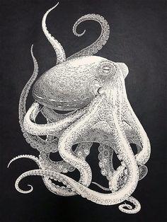 Japanese Artist Hand-Cuts Intricate Octopus From Single Sheet of Paper Kirie Paper Cutting Art Octopus by Masayo Fukuda Japanese Artist Hand-Cuts Intricate Octopus From Single Sheet of Paper Octopus Design, Octopus Art, Paper Cutting, Cut Paper, 3d Cuts, 3d Laser Printer, Gravure Illustration, Octopus Illustration, Art Occidental