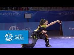 Wushu - Women's Optional Nanquan (Day 2) | 28th SEA Games Singapore 2015 - YouTube