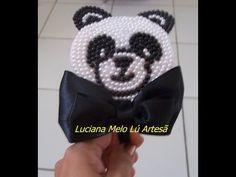 Lú Artesã: Tiara urso panda passo a passo