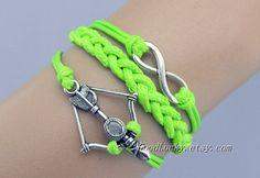 Arrow braceletinfinity braceletleather by charmjewelrybracelet, $7.99