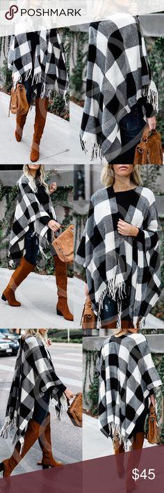 Hello FALL Shawl Fun tassel detail. Knit   NO TRADE PRICE FIRM Bellanblue Sweaters Shrugs & Ponchos