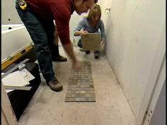Step-by-step instructions for how to tile a bathroom floor