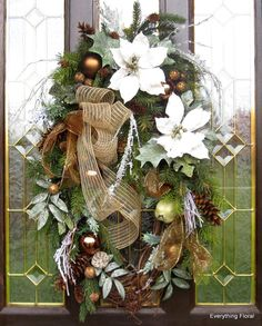 CHRISTMAS WHITE WREATH Christmas Décor Holiday by EverythingFloral, $70.00