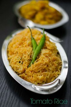 Recipe for easy Tomato Rice with Coconut Milk made in pressure cooker. South Indian Tomato rice recipe made Tamilnadu style. With step by step pictures. Coconut Milk Recipes, Rice Recipes, Indian Food Recipes, Cooking Recipes, Ethnic Recipes, Lunch Recipes, Easy Recipes, Vegetarian Rice Dishes, Vegetarian Recipes