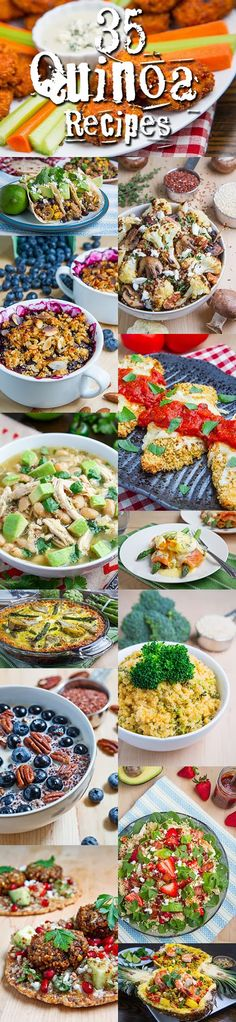 35 Quinoa Recipes - not all dairy free but some are plus some could be modified