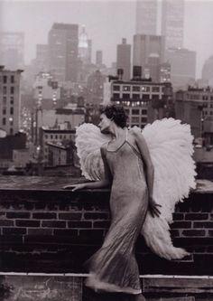 angel wings & rooftops