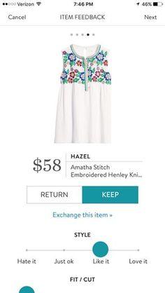 Hazel Amatha Stitch Embroidered Henley Knit Top