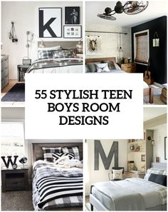 55 Modern And Stylish Teen Boys Room Designs - Designing a teen boy bedroom is rather a difficult task because it's not easy to please a teenager, to make the Room Design, Boys Room Design, Teenage Boy Room, Teenager Bedroom Boy, Bedroom Design, Remodel Bedroom, Boys Room Curtains, Kids Bedroom, Tween Boy Bedroom