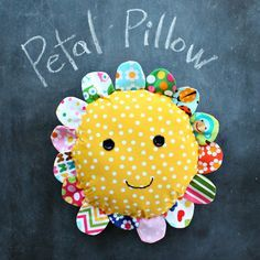 petal pillow - like a taggy blanket for newbies