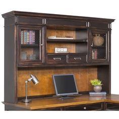 hutch office desk 5. Contemporary Desk Bush Furniture Cabot LDesk With Hutch And 5 Shelf Bookcase  Office   Pinterest Desks Shelves Bed Furniture For Desk