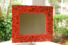 Red Mosaic Mirror. $70.00, via Etsy.