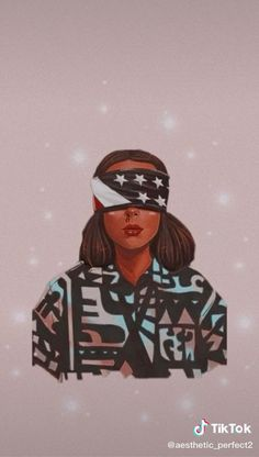 cartoon image of eleven, wearing a usa flag blindfold, stranger things wallpaper, blush pink background Stranger Things Tumblr, Stranger Things Actors, Bobby Brown Stranger Things, Stranger Things Aesthetic, Eleven Stranger Things, Stranger Things Netflix, Stranger Things Season, Millie Bobby Brown, Wallpaper Iphone Cute