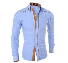 Men Shirt Long Sleeve 2018 Brand Shirts Casual Male Slim Fit Solid Line Decorative Buttons Chemise Mens Camisas Dress Shirt Men Cheap Mens Shirts, Mens Shirts Online, Cotton Shirts For Men, Stylish Shirts, Casual Shirts, Men Shirts, Shirt Men, Casual Outfits, Men Dress