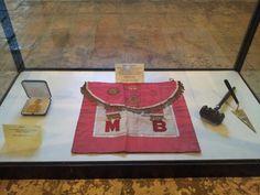 Masonic Apron - San Leo Museum, (where Cagliostro died), Italy