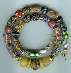"""We made bracelets from""""trade beads"""" at camp strung with leather,I still like them."""