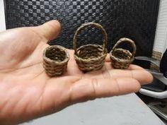 cestaria com jornal-Dy# como fazer mini cestas de jornal-mod 83 aprenda a fazer mini cestas usando canudos de jornal, ideal para lembrancinhas ou brindes em ...