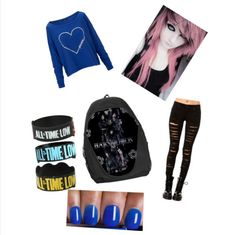 Emo scene outfit made on Polyvore By Keira Mckenzie