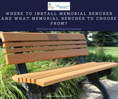 Where to Install Memorial Benches and What Memorial Benches to Choose From?  #memorialbenches #bench #green #sky #park #art #design #seating #usa #likeformore