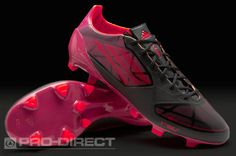 adidas F50 adizero Graphic TRX FG Boots - Blk/Infrared/Pink