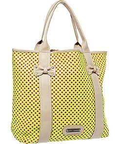 SCUBA GAL PERFORATED TOTE  -Fun & bright for Spring #love #neon #bag