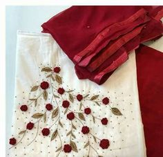 WhatsApp 9035330901 to customise hand embroidery materials. Zardosi Embroidery, Embroidery On Kurtis, Kurti Embroidery Design, Embroidery Flowers Pattern, Embroidery On Clothes, Hand Work Embroidery, Shirt Embroidery, Embroidery Fashion, Beaded Embroidery