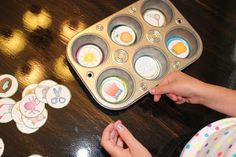 Muffin Tin Learning Games - beginning sounds