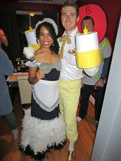 Halloween Costume: Lumiere and Babette from Disney's Beauty and the Beast