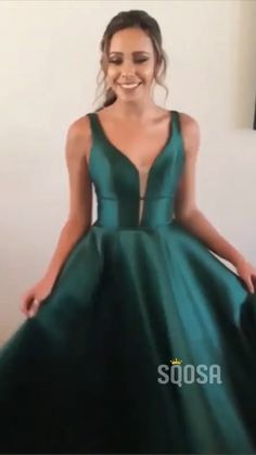 popular green prom dress - Classic A Line V Neck Green Long Prom/Evening Dresses with Ruched Source by ariesbugua - Gala Dresses, Hoco Dresses, Party Dresses, A Line Dresses, Ring Dance Dresses, Occasion Dresses, Sexy Dresses, Dark Green Prom Dresses, Dark Green Long Dress