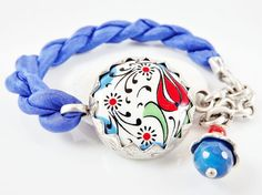Stackable Turkish Bracelet  Hand painted by LylaAccessories, $35.00