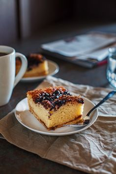 Gluten-Free Blueberry Streusel Coffee Cake from Pikanik. You can use frozen blueberries in this delightful recipe so you can make it all year long! [from GlutenFreeEasily.com]